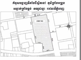 Land in Dangkor District, Phnom Penh City for sell for $ 850 / ㎡