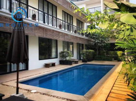 Brand new Apartment with One bedroom Western style  and nicely swimming pool for rent in Sok San road