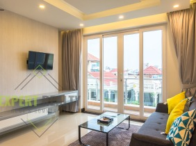 Phnom Penh Prampi Makara District One bedroom and one living room apartment for rent  ,  Good location Price $650/month