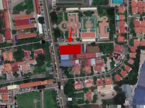 Land for sale on the Norodon main road in Chamkamorn 1313.5㎡,