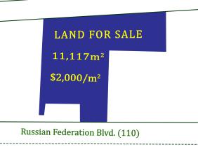 在Phsar Dei Huy Flyover地区的俄罗斯联邦大道(110)上出售土地