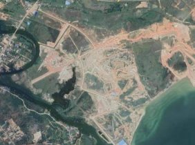 Freehold property rights of 200,000 square meters near Xigang, land near the seaside for sale, 110$/sq.