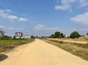 Freehold 7303㎡ land for sale near the third ring road in Phnom Penh, 150$/sqm, excellent location