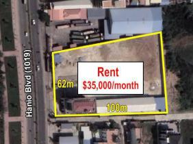 Land and Building for Rent, along Hanoi Blvd (1019)