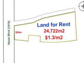 Land for Rent along Hanoi Blvd (1019), near National Bank Of Cambodia