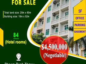 Hotel for sale, along street 1003 in Sangkat Phnom Penh Thmey, Khan Sen Sok